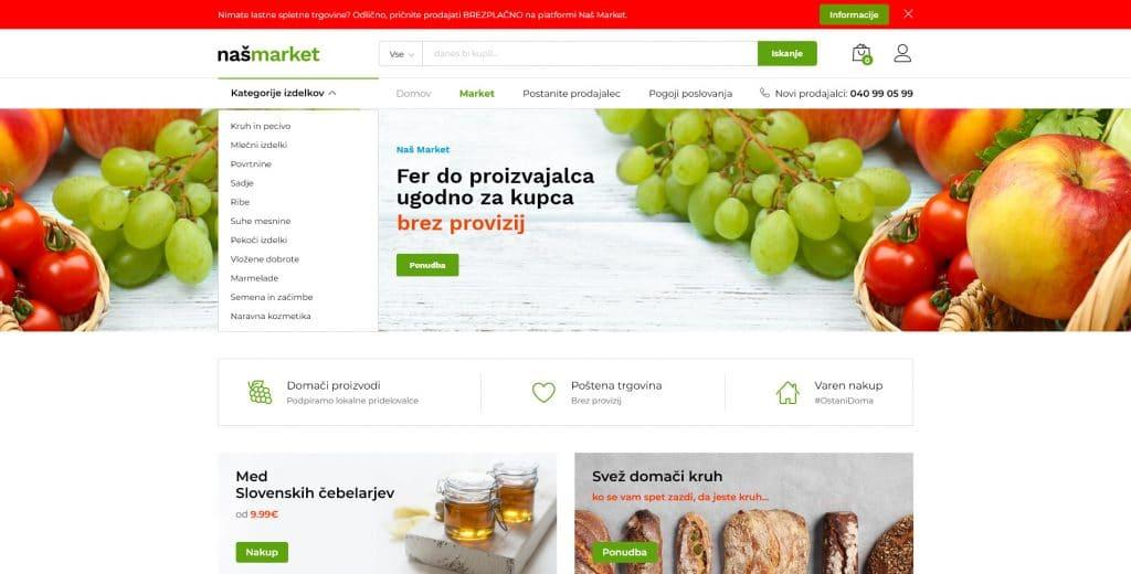 naš market platforma